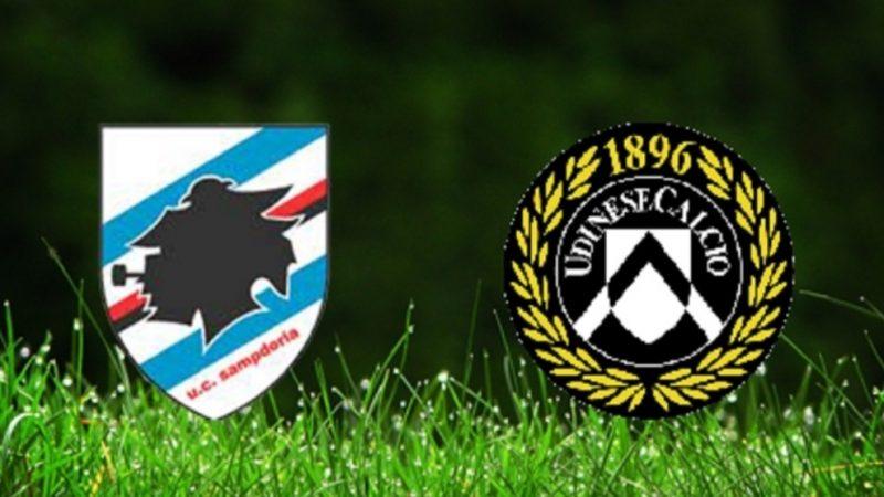 Sampdoria – Udinese: Le probabili scelte di D'Aversa e Gotti. Diretta tv e streaming